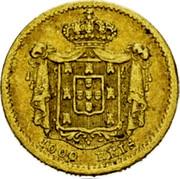 Portugal 1000 Reis 1855 KM# 495 Kingdom Decimal coinage coin reverse
