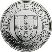Portugal 100$00 Bartolomeu Dias 1988 Proof KM# 642c REPUBLICA PORTUGUESA 100$00 coin obverse