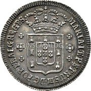 Portugal 120 Reis (6 Vintens) ND KM# 266 Kingdom Milled coinage coin obverse