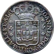 Portugal 120 Reis (6 Vintens) ND KM# 316 Kingdom Milled coinage coin obverse