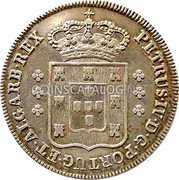 Portugal 120 Reis (6 Vintens) ND KM# 376 Kingdom Milled coinage coin obverse