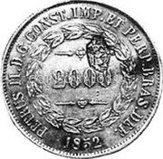 Portugal 1200 Reis ND KM# 21.2 Portuguese Administration Countermarked coinage (1871 Decree) coin obverse