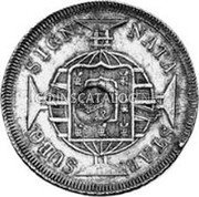 Portugal 1200 Reis ND KM# 29.4 Portuguese Administration Countermarked coinage (1887 Decree) coin obverse