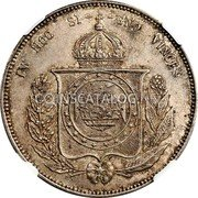 Portugal 1200 Reis ND KM# 21.3 Portuguese Administration Countermarked coinage (1871 Decree) coin reverse
