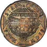 Portugal 1200 Reis ND KM# 29.2 Portuguese Administration Countermarked coinage (1887 Decree) coin reverse