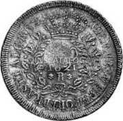 Portugal 1200 Reis ND KM# 29.4 Portuguese Administration Countermarked coinage (1887 Decree) coin reverse