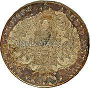 Portugal 1200 Reis ND KM# 21.1 Portuguese Administration Countermarked coinage (1871 Decree) coin reverse