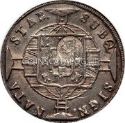 Portugal 1200 Reis ND R KM# 29.5 Portuguese Administration Countermarked coinage (1887 Decree) coin obverse