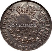Portugal 1200 Reis ND R KM# 29.5 Portuguese Administration Countermarked coinage (1887 Decree) coin reverse