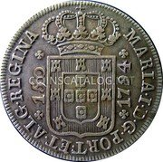 Portugal 150 Reis 1794 KM# 7 Prortuguese Administration Provincial coinage coin obverse