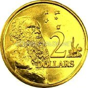 Australia 2 Dollars (Gottwald Issue) 2 DOLLARS coin reverse