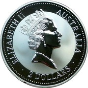 Australia 2 Dollars Kookaburra. Adelaide Pound Privy Mark 1992 KM# 227 ELIZABETH II AUSTRALIA 2 DOLLARS coin obverse