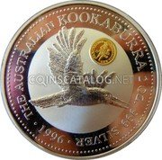Australia 2 Dollars (Kookaburra. Ducat 1729 Dutch Republic privy mark) KM# 290.1 THE AUSTRALIAN KOOKABURRA 2 OZ. 999 SILVER 1996 coin reverse