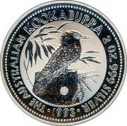 Australia 2 Dollars Kookaburra. Dump Privy Mark 1993 KM# 179 THE AUSTRALIAN KOOKABURRA 2 OZ. 999 SILVER 1993 coin reverse
