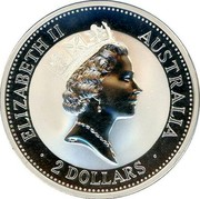 Australia 2 Dollars Kookaburra. Emu Privy Mark 1993 KM# 179.1 ELIZABETH II AUSTRALIA 2 DOLLARS coin obverse