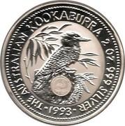 Australia 2 Dollars Kookaburra. Emu Privy Mark 1993 KM# 179.1 THE AUSTRALIAN KOOKABURRA 2 OZ. 999 SILVER 1993 coin reverse