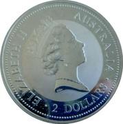 Australia 2 Dollars Kookaburra. Star Pagoda privy mark 1996 Proof KM# 290.5 ELIZABETH II AUSTRALIA 2 DOLLARS coin obverse