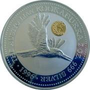 Australia 2 Dollars Kookaburra. Star Pagoda privy mark 1996 Proof KM# 290.5 THE AUSTRALIAN KOOKABURRA 2 OZ. 999 SILVER 1996 coin reverse