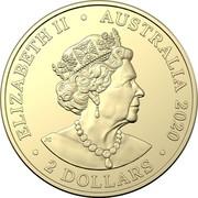 Australia 2 Dollars (Remembrance Day - Firefighters) ELIZABETH II AUSTRALIA 2020 2 DOLLARS JC coin obverse