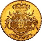 Portugal 2 Escudos (1/2 Peca. 3200 Reis) 1807 KM# 342 Kingdom Milled coinage coin reverse
