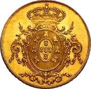 Portugal 2 Escudos (1/2 Peca. 3200 Reis) 1807 KM# 342 Kingdom Milled coinage coin reverse