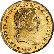 Portugal 2 Escudos (1/2 Peca. 3200 Reis) 1827 KM# 379 Kingdom Milled coinage coin obverse