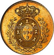 Portugal 2 Escudos (1/2 Peca. 3200 Reis) 1827 KM# 379 Kingdom Milled coinage coin reverse