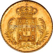 Portugal 2 Escudos (1/2 Peca. 3200 Reis) 1828 KM# 387 Kingdom Milled coinage coin reverse