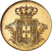 Portugal 2 Escudos (1/2 Peca. 3200 Reis) 1830 KM# 396 Kingdom Milled coinage coin reverse
