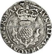 UK 20 Pence (Charles I) IVSTITIA · THRONVM · FIRMAT coin reverse