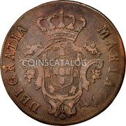 Portugal 20 Reis 1795 KM# 3 Prortuguese Administration Provincial coinage coin obverse
