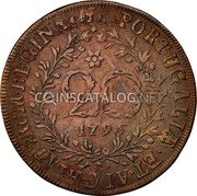 Portugal 20 Reis 1795 KM# 3 Prortuguese Administration Provincial coinage coin reverse