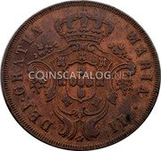 Portugal 20 Reis 1843 KM# 12 Portuguese Administration Provincial coinage coin obverse