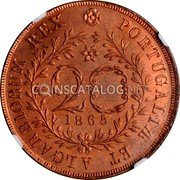 Portugal 20 Reis 1865 KM# 15 Portuguese Administration Provincial coinage coin reverse
