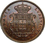 Portugal 20 Reis 1874 KM# 515 Kingdom Decimal coinage coin obverse