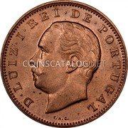 Portugal 20 Reis 1883 KM# 527 Kingdom Decimal coinage coin obverse