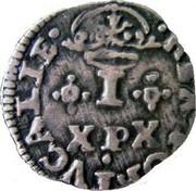 Portugal 20 Reis Joao IV ND KM# 30 REX.PORTVGALIE I X P X coin reverse