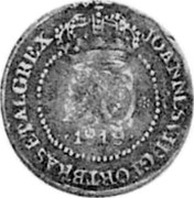 Portugal 20 Reis ND KM# 18.3 Portuguese Administration Countermarked coinage (1871 Decree) coin reverse