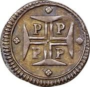 Portugal 20 Reis Pedro II 1688 P KM# 133 P P P P coin reverse