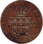 Portugal 20 Reis (Vinten) 1833 KM# 400 Kingdom Milled coinage coin obverse