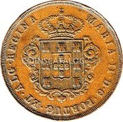 Portugal 20 Reis (XX Reis) 1842 KM# 3 Prortuguese colony Early coinage coin obverse