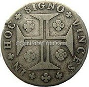 Portugal 200 Reis (12 Vintens. 200 = 240 Reis) 1780 KM# 272 Kingdom Milled coinage coin reverse