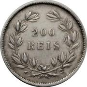 Portugal 200 Reis 1860 KM# 499 Kingdom Decimal coinage coin reverse