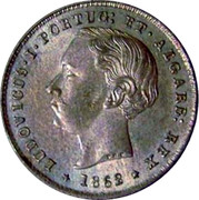 Portugal 200 Reis 1862 KM# 507 Kingdom Decimal coinage coin obverse