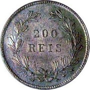 Portugal 200 Reis 1862 KM# 507 Kingdom Decimal coinage coin reverse
