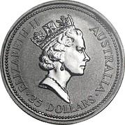 Australia 25 Dollars (Koala) ELIZABETH II AUSTRALIA 25 DOLLARS RDM coin obverse
