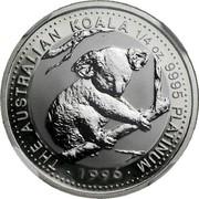 Australia 25 Dollars (Koala) THE AUSTRALIAN KOALA 1/4 OZ 9995 PLATINUM 1996 coin reverse