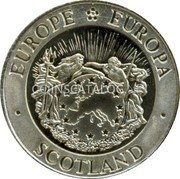 UK 25 Euro (Scottish lion token)  coin obverse