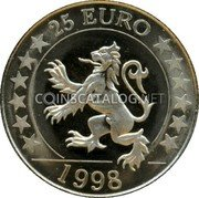 UK 25 Euro (Scottish lion token)  coin reverse