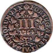 Portugal 3 Reis 1764 KM# 241.1 Kingdom Milled coinage PORTUGALIÆ ET ALGARBIORUM REX III coin reverse